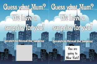 Personalised City Break Holiday Reveal Scratch Card